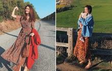 Cùng mê váy họa tiết dáng dài nhưng Thanh Hằng và Hà Tăng vẫn có những cách diện không đụng hàng