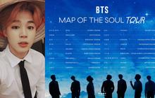 """BTS thông báo lịch trình World Tour """"Map Of The Soul"""" bỏ ngỏ đúng 1 địa điểm, Đông Nam Á liệu sẽ có cơ hội hay lại... """"ra chuồng gà""""?"""