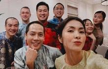 Tiệc tất niên tối 29 Tết trong biệt thự nhà Hà Tăng: Kathy Uyên, Phương Khánh bận áo dài, Băng Di sánh đôi bên bạn trai đại gia