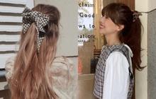 Hội sành mặc Instagram đang rủ nhau buộc nơ tóc điệu đà mà không sến, bạn copy diện Tết là đúng đắn lắm luôn!