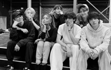 """Ariana Grande háo hức khoe mình """"đụng"""" phải BTS tại buổi tổng duyệt Grammy, fan lo lắng vì thiếu đi một thành viên: Suga đâu rồi?"""