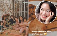 """Dù là nửa đêm, Châu Bùi vẫn đăng story khoe ăn món """"huyền thoại"""" của Tết, vì quá thèm nên bất chấp tăng cân"""