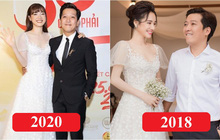 Nhìn Nhã Phương mặc lại váy đính hôn mới thấy: 2 năm đã qua mà nhan sắc vẫn đẹp như ngày nào