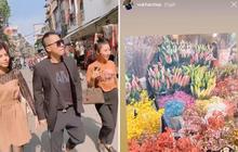 Ra Hà Nội dịp Tết, Vũ Khắc Tiệp cũng đi chợ hoa đêm như ai, không biết có quay vlog luôn không nhỉ?