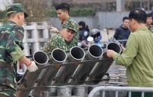 Các trận địa pháo hoa tại Hà Nội được chuẩn bị sẵn sàng cho thời khắc giao thừa
