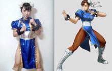 """""""Xịt máu mũi"""" với nữ thần tượng hóa thân thành Chun-Li trong game Street Fighter cực chất!"""