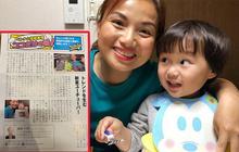 Tin vui cuối năm: Lần đầu tiên mẹ con Quỳnh Trần - bé Sa được xuất hiện trên báo Nhật Bản, dân tình phấn khởi dù… chẳng hiểu gì