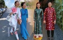 Sao Vbiz đồng loạt chọn Áo dài xuống phố mùng 1: Cả năm áo váy hàng hiệu rồi, cứ Tết về với truyền thống là chuẩn nhất!