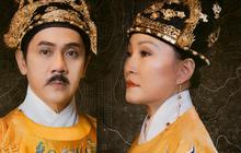 """Phượng Khấu tung tạo hình đại triều phục của Thành Lộc và Hồng Đào, phim """"cung đấu"""" Việt chưa bao giờ hoành tráng đến thế"""