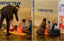 Giao thừa Hà Nội có lạnh nhưng sự tử tế thì luôn ấm áp: Nhiều tài xế dừng ô tô bên đường, tặng quà năm mới cho 3 mẹ con người phụ nữ nghèo