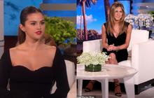2 chị đẹp 2 thế hệ đụng độ cùng khung hình: Selena Gomez sexy bức thở, Jennifer Aniston thần thái ngút ngàn