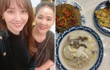 Dù ở Việt Nam, Hari Won vẫn được ăn những món truyền thống đón năm mới kiểu Hàn, nấu bởi một người đặc biệt