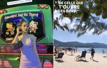 Vi vu đầu xuân: Chi Pu thả dáng sexy, lang thang dọc bãi biển ngập nắng vàng bên trời Thái