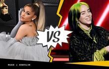 """Tranh cãi: Ariana Grande hoàn toàn trắng tay nhìn Billie Eilish có """"cú ăn bốn"""" lịch sử, là một chiêu trò """"che phốt"""" của Grammy?"""