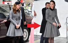 Vẫn chiếc váy ấy nhưng Kate Middleton chỉ thay đổi vài chi tiết, vẻ ngoài đã vươn lên tầm cao mới: Trẻ trung và siêu cấp thời thượng