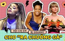 """Đâu chỉ có Ariana Grande và Lana Del Rey rơi vào """"cám cảnh"""", Mariah Carey, Taylor Swift và Rihanna cũng từng bị Grammy cho """"ra chuồng gà"""" hết!"""