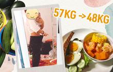 Từ 57kg xuống 48kg, cô gái Đà Nẵng chia sẻ bí quyết giảm cân cấp tốc chỉ sau 2 tuần