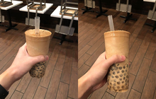 """Kiểu """"uống"""" trà sữa trân châu không cần… cốc mới gây bão MXH châu Á: áp dụng mẹo đơn giản mà ai cũng làm được"""