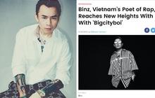 """Binz bất ngờ lên tạp chí Billboard Mỹ, còn được ưu ái gọi bằng danh xưng """"Nhà thơ Rap của Việt Nam"""""""