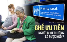 Nên hay không ngồi vào ghế ưu tiên cho người khuyết tật lúc vắng chỗ: Câu chuyện tranh cãi dài bất tận của cả thế giới