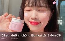 5 kem dưỡng chống lão hóa làm da căng mọng mịn màng, da ai đang khô hay chảy xệ nên nghía qua
