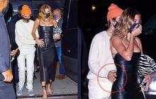 """Justin Bieber và Hailey đối lập tại party hậu SNL: Vợ lồng lộn """"bức tử"""" vòng 1, chồng lôi thôi theo sau và giữ khư khư bà xã"""