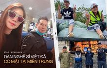 Dàn sao Việt đồng loạt có mặt tại miền Trung: Vợ chồng Lương Thế Thành, Lý Hải đến từng vùng, Hoà Minzy mang hàng trăm phao bơi