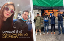 Nhiều nghệ sĩ Vbiz đồng lòng đến với miền Trung ruột thịt: Vợ chồng Lương Thế Thành, Lý Hải đến từng vùng, Hoà Minzy mang hàng trăm áo phao
