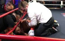 Góc cay đắng: Vừa ra dấu khiêu khích đối thủ ra đòn, võ sĩ dính ngay một đấm ngã xuống sàn không nhúc nhích