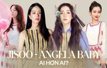 """Qua 7 lần đụng hàng, """"nữ thần YG"""" Jisoo có đủ trình """"cân"""" được mẹ một con hot nhất Cbiz Angela Baby?"""