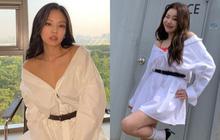 """Đụng hàng với Jennie, """"idol xấu nhất lịch sử"""" JooE sợ hở diện thêm """"phụ tùng"""" sến và kém sang hơn hẳn"""