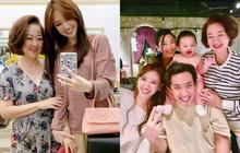Trấn Thành đăng ảnh gia đình tụ hội mừng sinh nhật mẹ, Hari Won gây chú ý vì ngày càng giống mẹ chồng