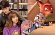 """Ngu Thư Hân hớn hở ghẹo Đinh Vũ Hề """"cưng"""" như đôi bạn """"thỏ-cáo"""" Disney ở hậu trường"""