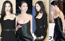"""2 màn combo siêu trễ nãi, o ép vòng 1 bức thở nhất Kbiz: """"Điên nữ"""" Seo Ye Ji làm """"nổ"""" thảm đỏ, nhìn Sunmi mà thót tim!"""