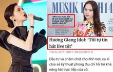 """Netizen """"bóc"""" phát ngôn bất nhất của Hương Giang: Từng tự tin live tốt nhưng 3 năm sau tuyên bố nếu hát hay đã không đầu tư cho nhàn hạ?"""