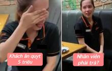 """Nhà hàng buffet có nhân viên khóc vì khách """"ăn quỵt"""" 5 triệu bị netizen công khai tin nhắn: """"Chi phí trừ vào lương mỗi tháng, không trừ một lần"""""""