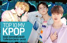 """BTS lấy lại ngôi vương từ tay NCT; SEVENTEEN và MAMAMOO """"đe doạ"""" vị trí của BLACKPINK trong top MV được xem nhiều nhất tuần"""