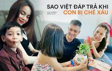 """Sao Việt """"phản dame"""" khi con bị chê xấu: Thủy Tiên đáp trả tay đôi, nhưng không căng bằng pha xử lý của Tuấn Hưng"""
