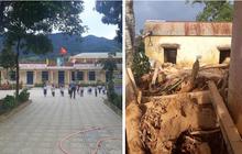 Trường học ở Quảng Trị sau khi sạt núi ập đến: Bùn đất bám dày 1 mét, thầy cô phải băng rừng đến lớp