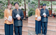 Vợ chồng Trường Giang giản dị đi lễ chùa sau chuyến cứu trợ miền Trung, cử chỉ tựa đầu dễ thương khiến dân tình bấn loạn
