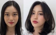 Gái Hàn có chiêu làm tóc biến mặt tròn thành thanh thoát, cực đơn giản chẳng cần ra tiệm