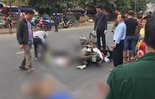 CLIP: Nam thanh niên phóng xe máy vun vút, lấn làn tông chết người đàn ông đi xe máy