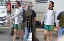 """Lee Min Ho khoe chân thon nõn nà nhưng ai cũng chú ý vào chiếc quần đùi xanh """"hổ báo"""""""