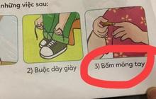 """Người mẹ cho rằng """"bài tập yêu cầu con tự cắt móng tay"""" trong SGK lớp 1 quá nguy hiểm, hội phụ huynh vào tranh luận gay gắt"""