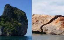 Bão lớn đánh vỡ đôi đảo đá vôi nổi tiếng Thái Lan