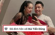 """Scandal """"single mom"""" lắng xuống, Khánh Linh để lại trạng thái """"đã đính hôn"""" với Bùi Tiến Dũng, lời nhắn nhủ của mẹ ruột gây chú ý"""