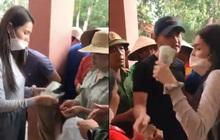 Thuỷ Tiên tuyên bố sẽ thu lại phiếu và không phát tiền cứu trợ vì tình trạng người dân chen lấn hỗn loạn, thiếu an toàn