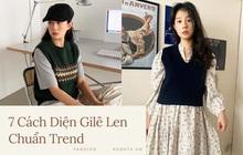 """7 công thức bạn nên """"ghim"""" để diện gilê len chuẩn chỉnh như gái Hàn"""