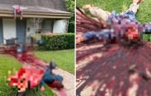 Trang trí nhà đón Halloween quá có tâm, gia chủ bị cảnh sát hỏi thăm liên tục vì tưởng là án mạng