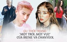 """Cùng là 2 """"bông hoa"""" tai tiếng của SM, nhưng sao style của Irene - Chanyeol lại trái ngược éo le cỡ này?"""